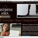 Mistress Of Asia Recent