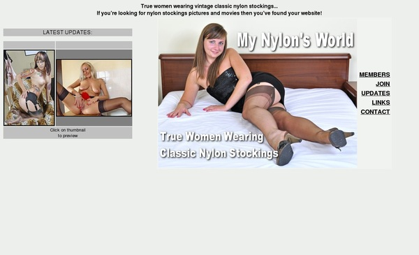 Username And Password For My Nylons World