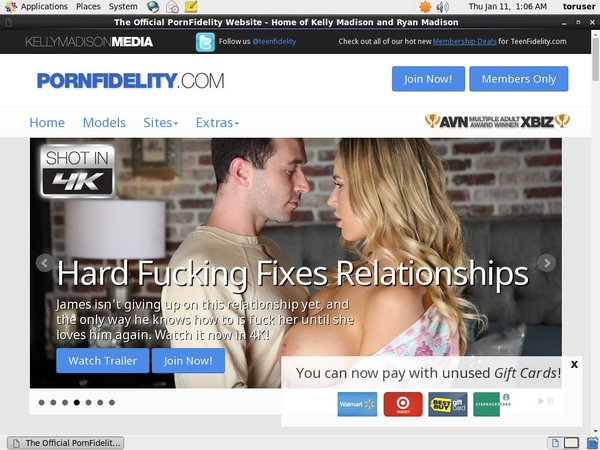 Pornfidelity.com With Prepaid Card